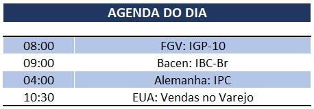 16.01.2020 Agenda do Dia